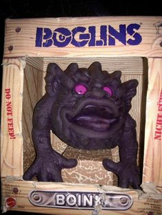 My brother (older) had one and scared me to death with it but him and my sister always picked on me my sister is 34 and my brother 36 and I 32 I hated the boglins so much lmao 1980s Toys, Retro Toys, Vintage Toys, 90s Childhood, My Childhood Memories, School Memories, Old School Toys, Cartoon Toys, 80s Kids