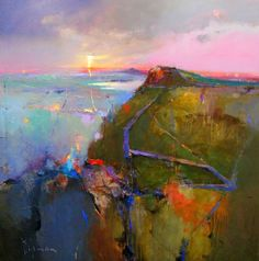 gorgeous mixed media abstract by Peter Wileman