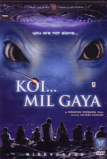Koi... Mil Gaya (2003) A retarded man finds love and a place in this world with the help of a cute blue alien.