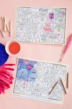 Shimmer and Shine Party Placemats