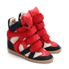 645e911b52de red black and white sneaker wedges Beige Sneakers