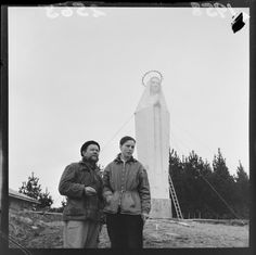 Photograph taken for the Evening Post newspaper of Wellington by an unidentified staff photographer. Quantity: 1 b&w original negative(s). The Hutt, Our Lady Of Lourdes, Good Old, Old Pictures, New Zealand, Statue, Couple Photos, Antique Photos