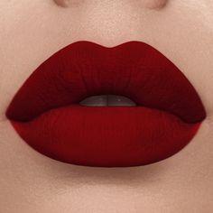 Deep Red Lipsticks, Red Lipstick Makeup, Lipgloss, Lipstick Colors, Lip Colors, Blood Red Lipstick, Matte Lipsticks, Lime Crime Lipstick, Lipstick Swatches