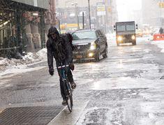 bike, biking, NY, NYC, New York, bikeriding, winter, snow, fixed gear, messenger, bike messenger, Mattias Satterstrom, Mattias Sätterström