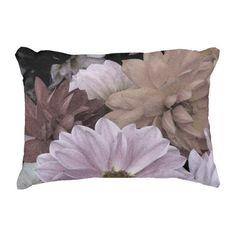 Dahlia Flower Garden Floral Abstract Accent Pillow