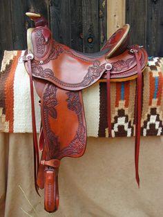 Weatherly Trail Saddle / J. Maxwell Tack & Saddle Co. Western Horse Saddles, Cowboy Horse, Western Riding, Western Tack, Barrel Saddle, Saddle Rack, Barrel Horse, Horse Gear, Horse Tips