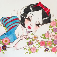 Sneak peek of a Snow White commission I did for Taylor ! #disney #illustration #fanart