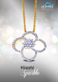 Accentuate your neck with some gracefulsparkle radiating from this diamond pendants from asmi diamond jewellery are adornments to exquisitely add a gracefulsparkle aloadofball Choice Image