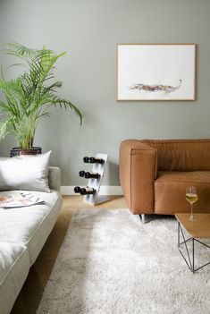 Home Design Decor, House Design, Home Decor, Harrington House, Cognac Leather Sofa, Happy Wine, Simple Living Room, Sweet Home, New Homes