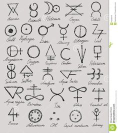 Signes Alchimiques Illustration de Vecteur - Image: 42520318