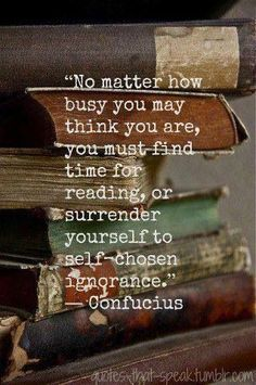 Find time for reading.