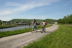 Looking for a great place to bike? Try the C&O Canal towpath that winds through Allegany County, MD. It connects directly to the Great Allegheny Passage trail!
