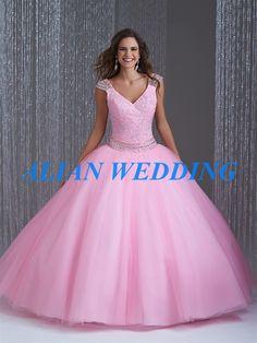 >> Click to Buy << Hot Slae Pink Quinceanera Dress Ball Gown Sweetheart Beading Masquerade Dresses Organza Sweet 16 Vestidos De QA443 #Affiliate