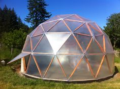 """""""Overworked Dad Builds Weird Geodesic Greenhouse Dome Thing and Saves His Family Thousands on Food Bills… Almost By Accident""""  …and it's so simple you will be am…"""