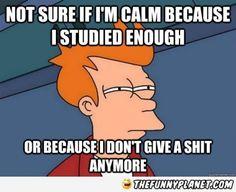 How I feel before every social work test