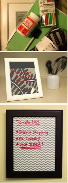 It's National Craft Month! Here are some tips from our IKEA blogger on how to create a DIY craft erase board using VIRSERUM picture frames and IKEA fabric.