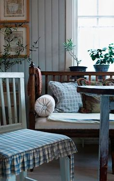 forget me not / Country Blue ~ Swedish Cottage, Swedish Decor, Swedish House, Cottage Style, Farmhouse Style, Farmhouse Decor, Cottage Chic, Swedish Interiors, Cottage Interiors