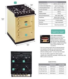 AGA City24 Dual Fuel Range product specifications