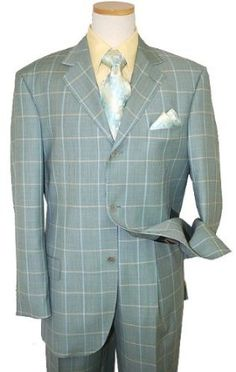 STACY ADAMS SOLID PISTACHIO SUPER 100'S SUIT~MSRP $499 (42R). Looking for the suit that makes you stand out in a good way? Then this is it! This elegant, luxurious, hand finished suit is made by Stacy Adams. This suit is Solid Pistachio and features a 3-button, single-breasted coat, and pleated pants. This suit is for people who want to look corporate -- sleek, commanding, prudent, with a touch of class.   This suit is flawless in every way. It features an Steve Harvey cut and look, hand…
