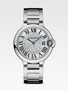 Cartier Ballon Bleu de Cartier Stainless Steel Watch on Bracelet, Medium