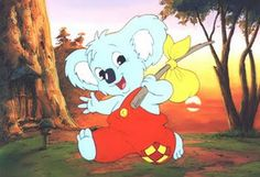 """Vili Vilperi /// """"Blinky Bill"""" is a koala who has adventures with his friends a kangaroo, a platypus, and other animals in New Zealand."""