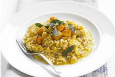 Always good to have up your sleeve - a risotto. This one is Pumpkin & Sage Risotto.