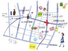 オズマガジン1月号「台北的路地迷子のススメ」MAP挿絵