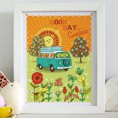 """'Good Day Sunshine' 10x8"""" Framed print £15.00"""
