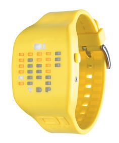 Like our binary time system the Ibiza Ride is another patented time system which uses LEDs to tell the time. Check out this color bright characterizing 01 watch.