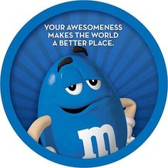 <3...Blue M and M -