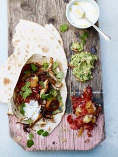 Making chicken fajitas – and homemade guacamole – is easier than you might think. Jamie Oliver's classic recipe is an easy and fun way to feed a crowd!