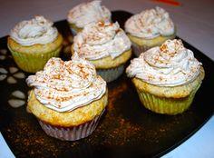 Vanilla Bean Ice Cream Cupcakes with Apple Cinnamon Whipped Cream