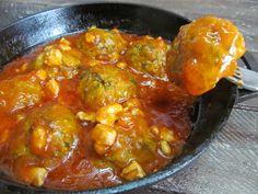Фрикадельки из кабачка под соусом   Кулинарные рецепты с фото пошагово
