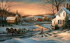Artist: Terry Redlin Title: Together For The Season Categories: Landscape, Lithograph, Fine Art Reproduction, Hadley House, WildLife Terry Redlin, Most Popular Artists, Country Scenes, Commercial Art, Country Art, Christmas Art, Country Christmas, Christmas Posters, Winter Scenes