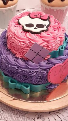 Monster High 2 Tiered cake.