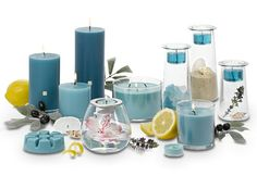"25% off March Fragrance of the Month, Sea Breeze & Olive. ""Like a sea breeze sweeping through a Mediterranean olive grove, sparkling watery notes are infused with delicate nuances of florals and spice."" Available forms: Universal Tealight® Candles, Votive Candles, Scent Plus® Melts, Pillar, Escential Jar, 3-Wick Jar."