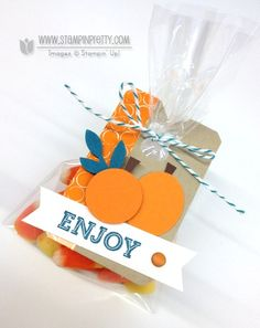 Oh, Goodie.  pumpkin pie goodie gear simply created kit halloween treat cello bag punch art