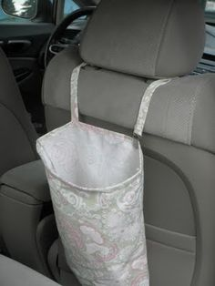 DIY car trash bag. (-Lots of other tutorials found here.)