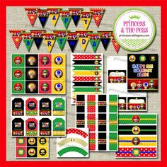 Mario Bros Printables | Affordable Kids Birthday Party Ideas | Personalized Invitations | Easy Kids Parties | Kids Party Planning | Party Pr...
