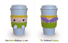 Crochet Cozy Coupe du café de la fée par TheEnchantedLadybug, $15.00