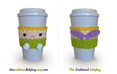 Crochet Tinkerbell Coffee Cup Cozy by TheEnchantedLadybug on Etsy, $15.00