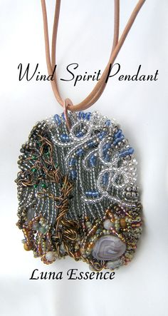 Wind Spirit Goddess Art Pendant by LunaEssence on Etsy, $179.00