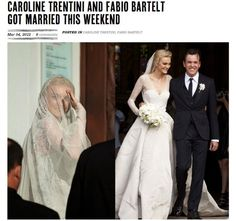 For her April 2012 wedding to Fabio Bartelt, Caroline Trentini called upon longtime pal Olivier Theyskens to craft her dress
