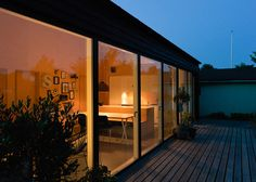 Low Cost Small House - Sigurd Larsen - Copenhagen - Exterior Night - Humble Homes