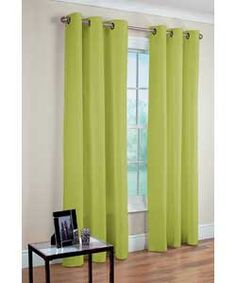 lima Ring Top Green Curtains - 66 x 90 inches