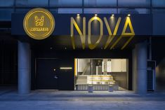Image 2 of 27 from gallery of Nova Pets Store / say architects. Photograph by Minjie Wang Hangzhou, Pet Shop, Shop Facade, Retail Facade, Concrete Column, Pet Hotel, Glass Brick, Pet Supply Stores, Facade Design