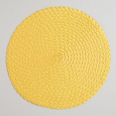 One of my favorite discoveries at WorldMarket.com: Solar Yellow Round Braided Placemats, Set of 4