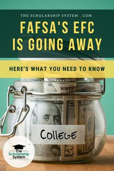 Due to a new law, the EFC is on the way out. If you wonder how the new law may impact college financial aid, here's what you need to know. How To Find Scholarships, Scholarships For College Students, Financial Aid For College, Student Loan Debt, College Costs, Scholarship Thank You Letter, Saving For College, Money Management