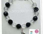 black/clear rondelle bracelet