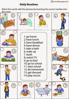 Wonderful Screen daily routine vocabulary Popular Your daily routine consists of all your habits.These actions structure every day and make the differ Kids English, English Class, English Words, English Lessons, English Grammar, Teaching English, Learn English, Daily Routine Worksheet, Daily Routines